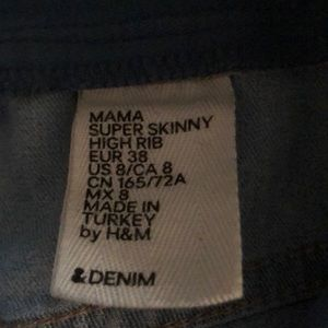 H&M Jeans - H&M Mama - Over the bump skinny maternity jeans